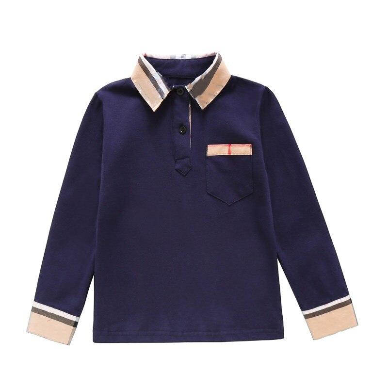 New Spring Boys Girls latticen Cotton T Shirts Children Tees Boy Girl Long Sleeve T Shirts Kids Tops Brand Baby Clothes 3-8Y 8