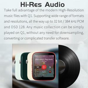 Image 5 - Shanling REPRODUCTOR DE Audio HiFi portátil Q1 ES9218P DAC/AMP, bidireccional, Bluetooth, MP3, compatible con DSD128 PCM32bit/384kHz LDAC/aptX