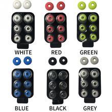 4 paires/ensemble dans loreille bruit isolé doux anti dérapant amovible écouteurs pointe avec boîte épargnée Silicone remplacement pour Beats Power3