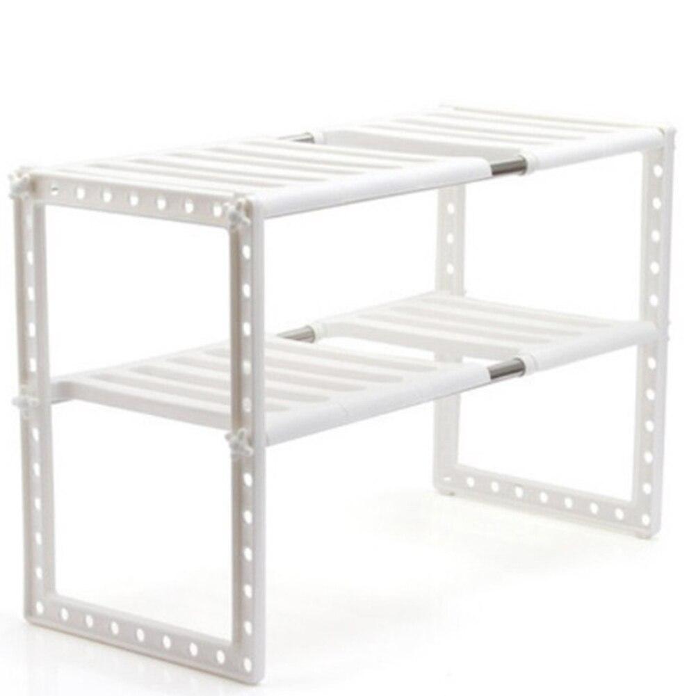 Dishes Double Layer Storage Rack Adjustable Extendable Holder Kitchen Shelf Organizer Under Sink Multifunction Stainless Steel