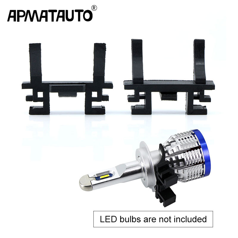 2pcs H7 LED Headlight bulb Holder Adapter Base For Fiat Land Rover Discovery car styling replace original holder