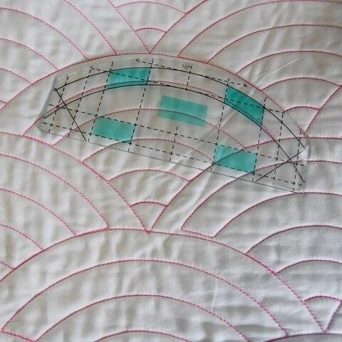 Movimento libero Quilting Essentials Modello di macchina da cucire quilting righello quilting modello patchwork righello quilter delle righello 4