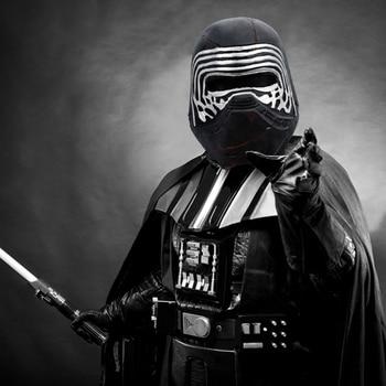 Molezu Halloween Star Wars The Rise Of Skywalker  Black Warrior Latex Mask Full Face Helmet Cosplay Mask