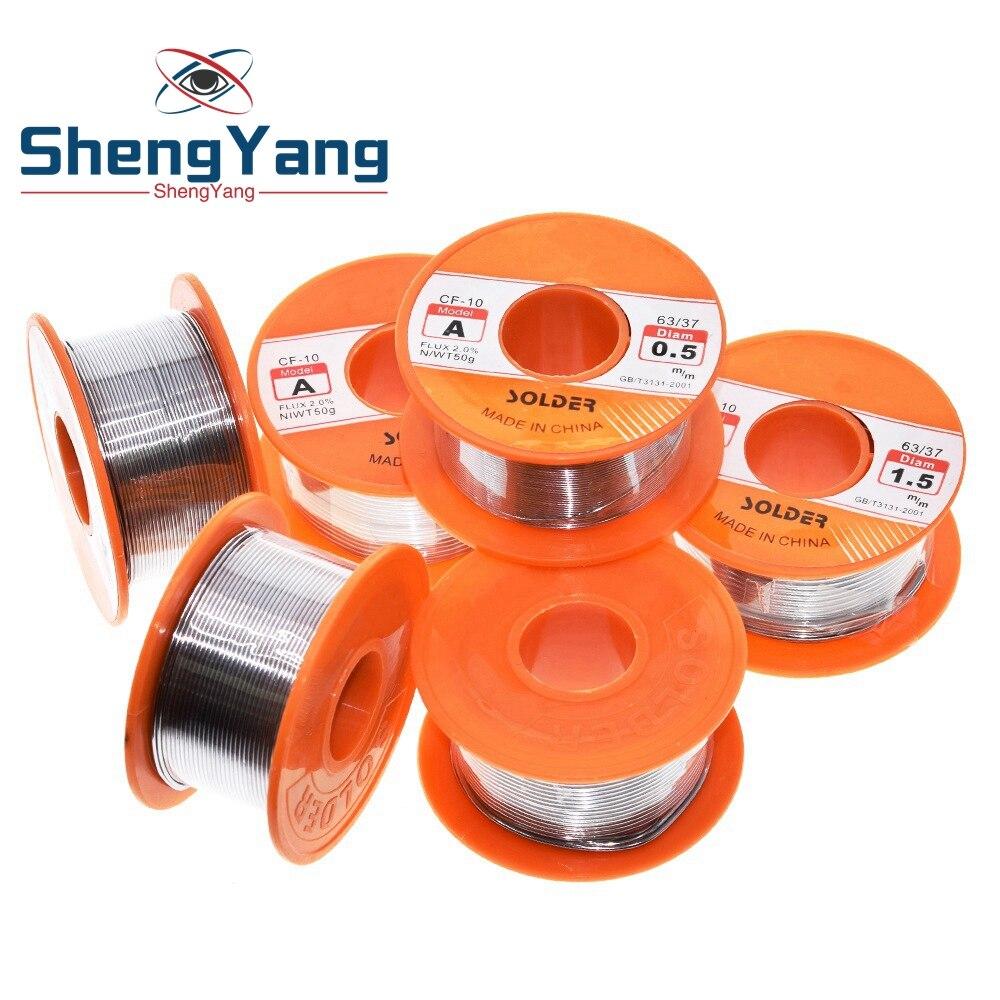 Шэньян 0,6/0,8/1/1.2/1.5 мм 63/37 поток 2.0% 45FT свинцово-оловянные оловянный припой расплава канифольное ядро припой проволока R & D для