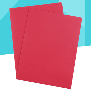 12 szt A4 2 kieszenie Kraft teczka papierowa brązowy uchwyt Folder na dokumenty projekt biurowy Folder prezentacji plików (czerwony) tanie i dobre opinie AE (pochodzenie) Other
