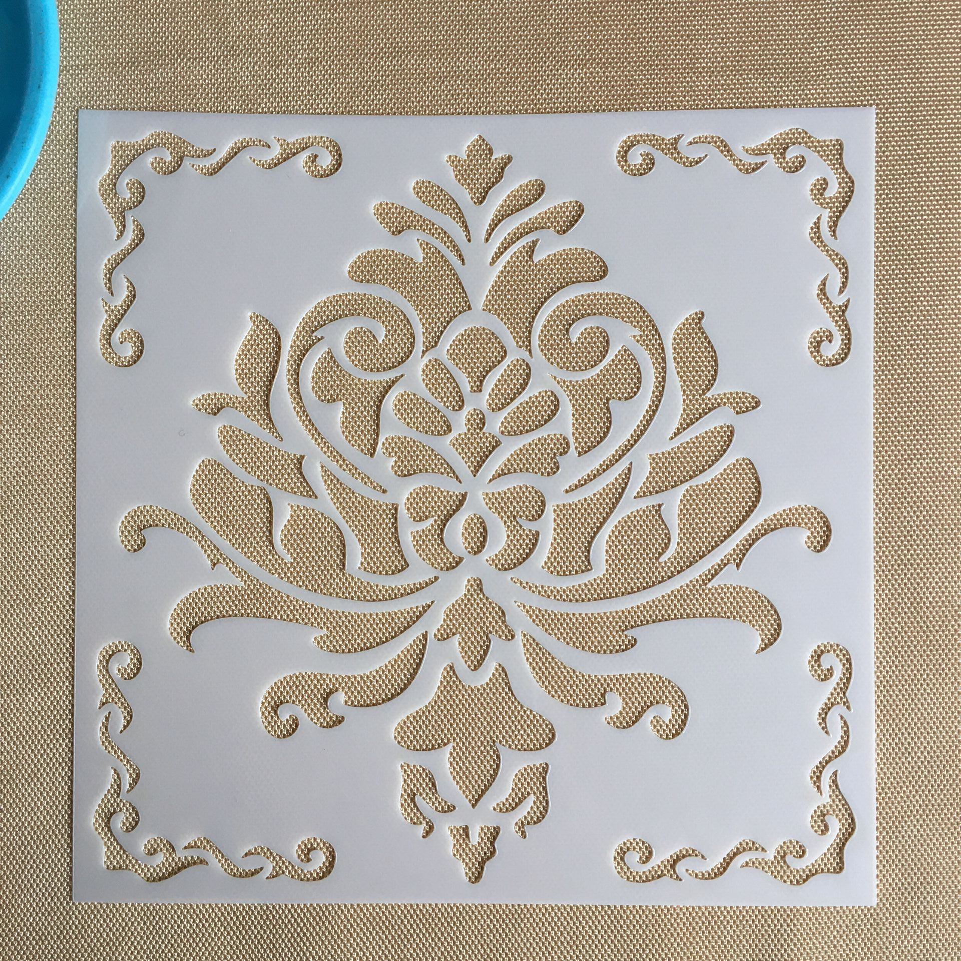 Mandala 1pc 15 * 15cm  Mold DIY Home Decoration Drawing Template Laser Cutting Wall Template Painting Tile Tiles Stencil