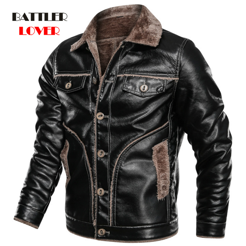2020 Genuine Leather Jacket Men Winter Fleece Australian Natural Fur Real Shearling Coat For Men Air Force Flight Men's Jackets