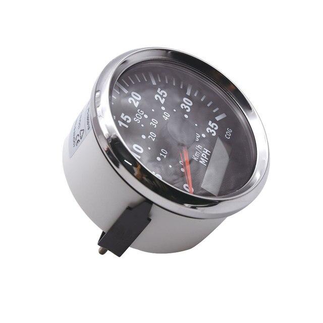 85mm GPS Speedometer SOG MPH Marine Boat Car Speedometer Gauge LCD Display 0~35 COG 60 Km/h Adjustable Digital with Backlight
