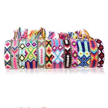 Bransoletki 12 sztuk tkane bransoletki przyjaźni bransoletki robione ręcznie regulowane bransoletki nowość tanie i dobre opinie 14 Lat i up Dorośli 8 ~ 13 Lat 2 ~ 4 Lat 5 ~ 7 Lat Other Bracelets cloth one set