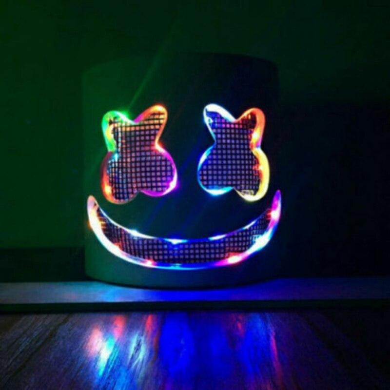 MarshMello DJ Mask Full Head Helmet Halloween Cosplay Mask Bar Music Marshmallow