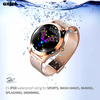 GIAUSA Smart Watch Women IP68 Waterproof Heart Rate Monitoring Bluetooth For Android IOS Fitness Bracelet Smartwatch недорого