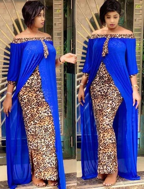 beautiful maxi dress, leopard print off shoulder backless dress 3