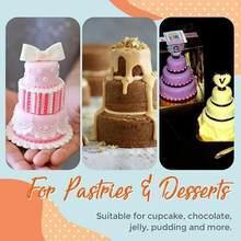 Mini Drie-Tier Toren Vorm Pudding Cake Cup Mold Muffin T1S6 Mold Biscuit Bakvorm Cup Aluminium Anodiseren Ba cakevorm M Q9C0