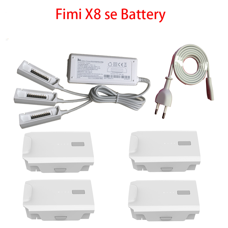 IN Stock  FIMI X8 SE Original Battery 11.4V 4500mah FPV With Multi-charger Adapter 4K Camera GPS RC Drone Quadcopter