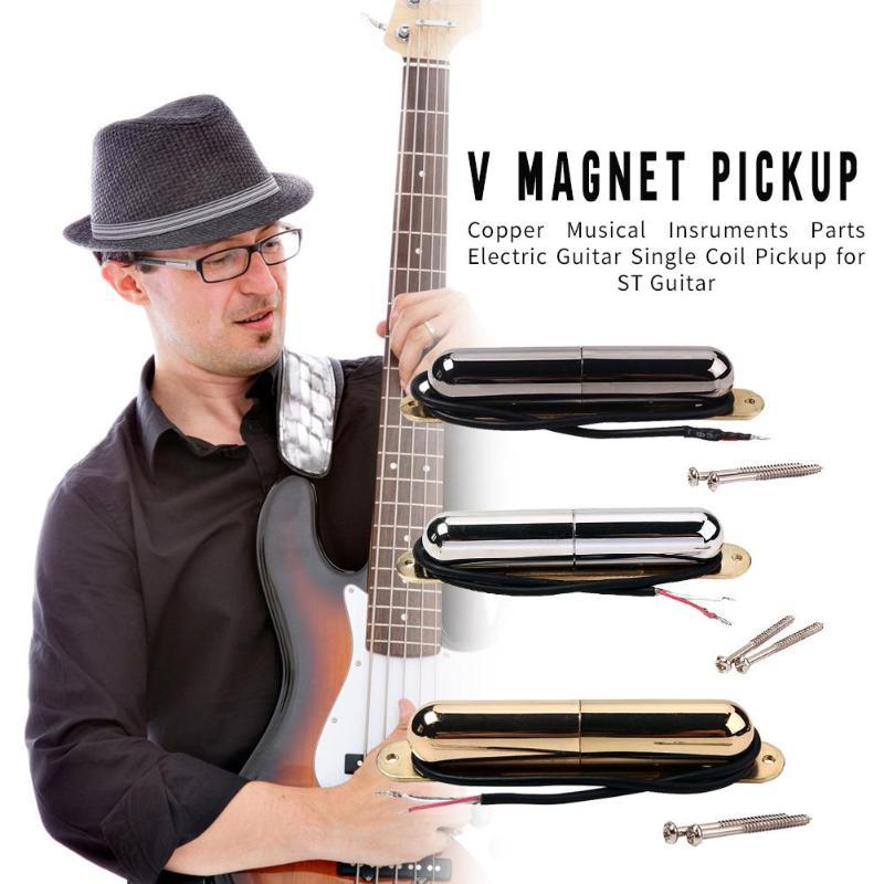 V Magnet pomadka w tubce Pickup gitara elektryczna pojedyncza cewka do gitary ST