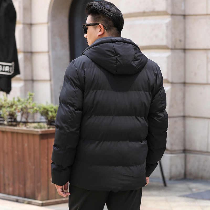 Plus größe 8XL 7XL Marke 2020 Winter Baumwolle Gefütterte Jacke Hoodies Männer Dicke Pullover Parka Mantel Männlich Wattierte Winter Jacke mantel
