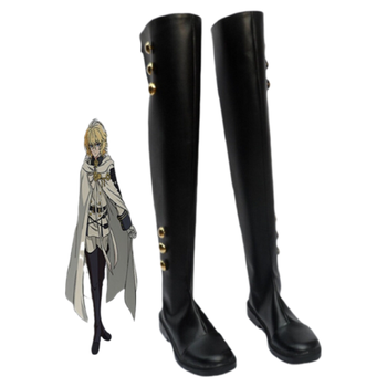 Seraph Of The End Cosplay Shoes Mikaela Hyakuya Boots Military Uniform Cosplay Costume Ferid Bathory Boots the rising of the shield hero itsuki kawasumi shoes cosplay boots custom made any size