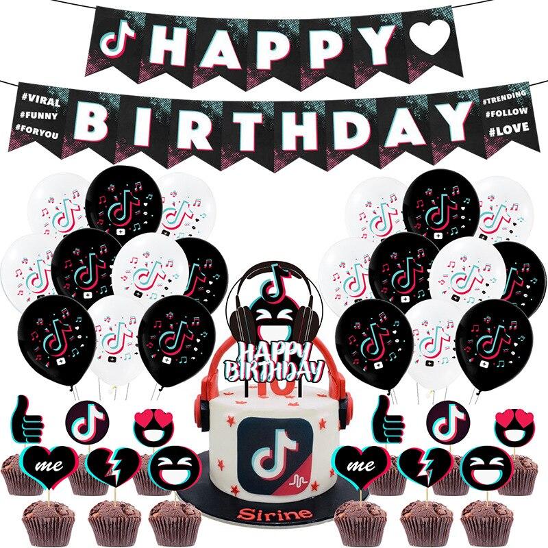 День рождения Сувениры бумажные тарелки и стаканы баннер для детей Tok торт фигурки жениха и невесты; Для вечеринки в честь будущего рождения...