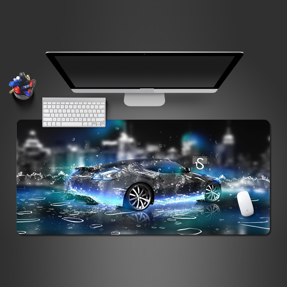 Top Super Car Cool Water Drop Screen Mouse Pad Fashion Creative Computer Games Mouse Pad Wholesale Natural Rubber Washing Pads