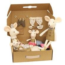 Мягкая маленькая мышь, плюшевые игрушки, мягкие плюшевые животные, милая игрушка, кукла принцессы, детские рождественские подарки, Семейные...