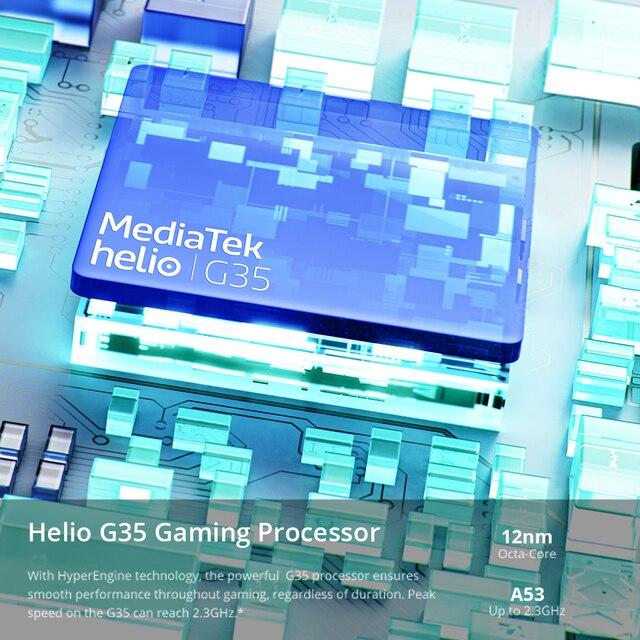 Global Version realme C21 Smartphone Helio G35 Octa Core 6.5'' inch Screen 5000mAh Massive Battery 3-Card Slot 13MP Camera 5
