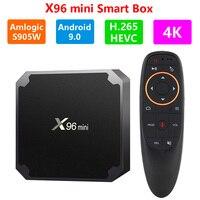 Smart TV Box X96 mini Android9.0 4K CONTENITORE di Android TV con Tastiera Amlogic S905W Quad Core Support WiFi M3U netflix Media Player