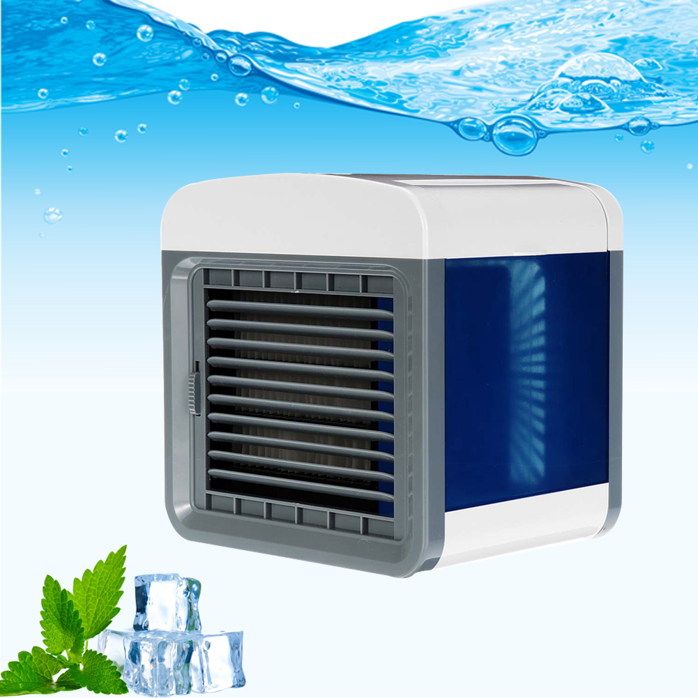 USB Mini Fan Portable Air Conditioner Humidifier Purifier Light Desktop Air Cooling Fan Air Cooler Fan Shipped Within 24 Hours