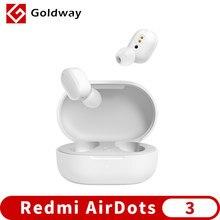 Xiaomi redmi airdots 3 mi verdadeiro sem fio bluetooth 5.2 fone de ouvido estéreo ligação automática smart wear touch control apt-x fone de ouvido adaptável