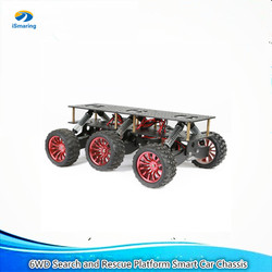6WD робот шасси автомобиля амортизация внедорожных скалолазания Поисково-спасательная платформа для Arduino Raspberry Pie DIY RC игрушка