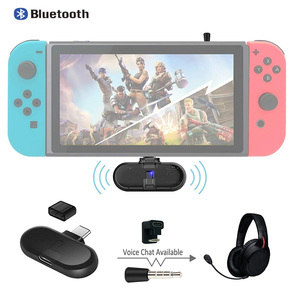 Rota + Pro Apoio aptX Baixa Latência de in-Game Chat de Voz Mini USB C Adaptador de Áudio Bluetooth Transmissor Sem Fio w/U-tipo de Conector