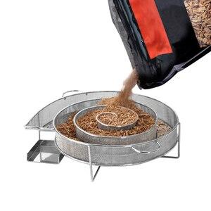 Image 3 - קר עשן גנרטור מנגל אביזרי פלדת ברביקיו גריל בישול כלי מעשן סלמון בייקון דגי מיני אפל עץ שבב עישון תיבה