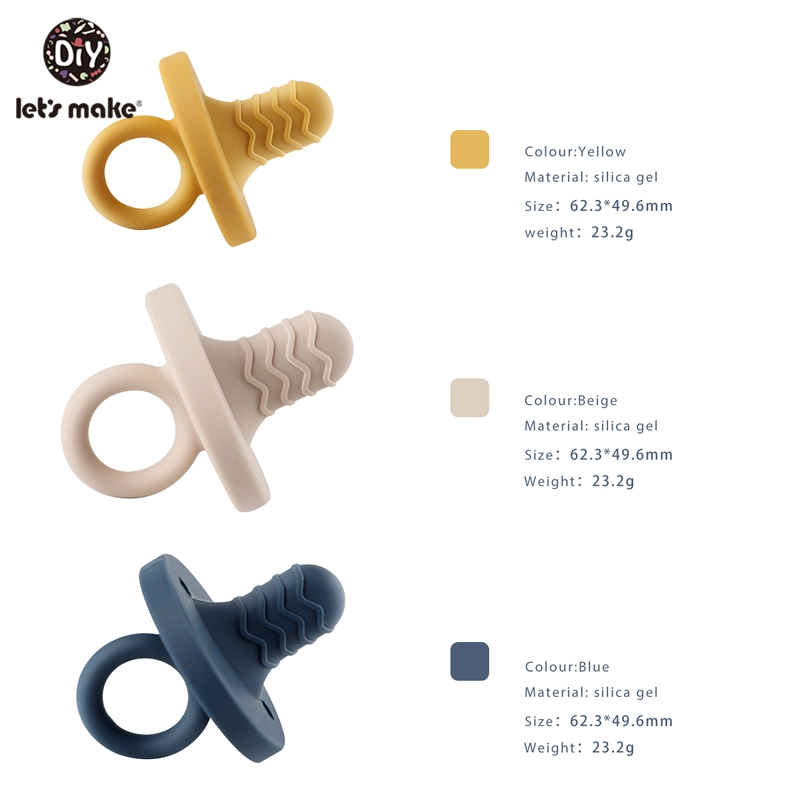 let's make 5pc Pacifier baby toy toddler silicone pacifer chain nipple baby teether toys for kids for baby feeding