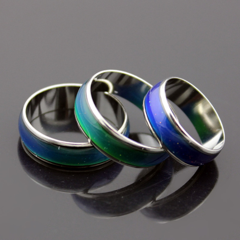 Кольцо с изменением цвета при температуре унисекс