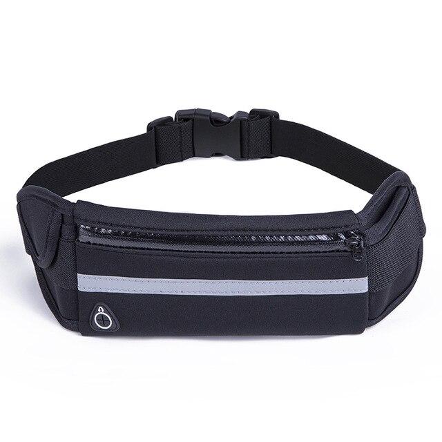 Running cinturón cintura teléfono bolsa deporte Jogging paquete ciclismo teléfono bolsillo impermeable cinturón cartera con soporte de botella antirrobo