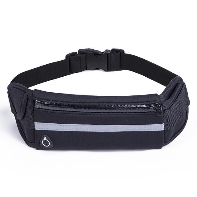 Running Belt Waist Phone Bag Sport Bag Jogging Pack Cycling Phone Pocket Waterproof Belt Wallet With Bottle Holder Anti-theft