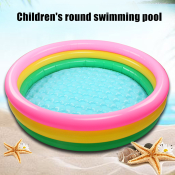 Newly Inflatable Rainbow Swimming Pool Round Thickened Inflatable Swimming Pool for Children Kids Water Playing