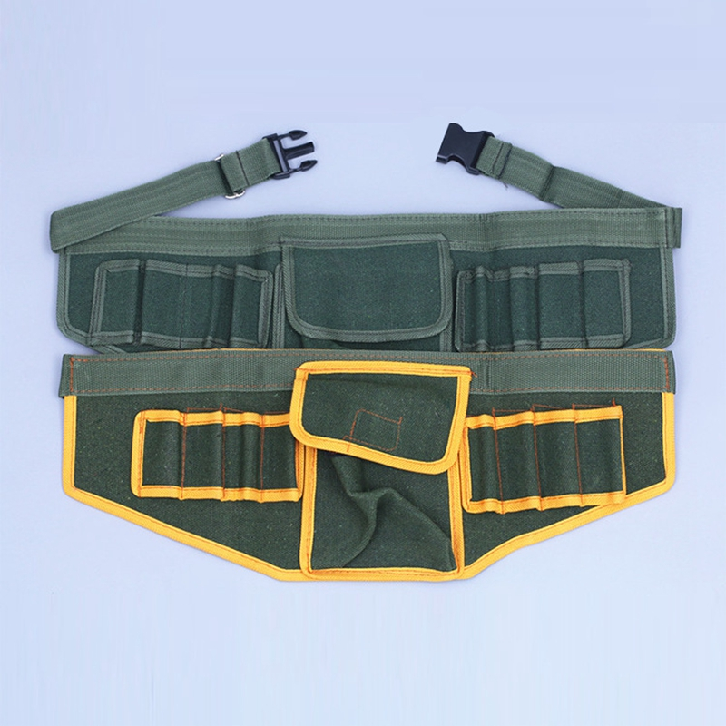 2019 New Hardware Electrical Tool Bags Adjustable Waist Belt Tools Pockets Construction Packs Thicker Canvas Bags Without Tools