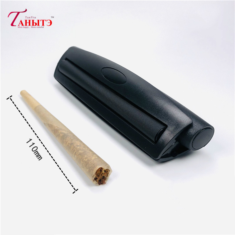 110mm Portable Cigarette Rolling Machine Joint Cone Roller Manual Maker DIY Tool Plastic Manual Tobacco Smoking Rolling Papers 1