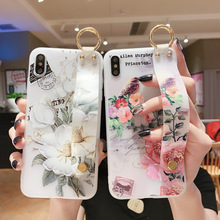Floral Case For OPPO Find X2 Pro Cases Silicon Wrist Strap Etui OPPO A9 A5 2020 A31 A91 A1k Realme C2 Reno 3 2 F11 A3s A37 Cover смартфон oppo a3s 16 гб красный a3s red