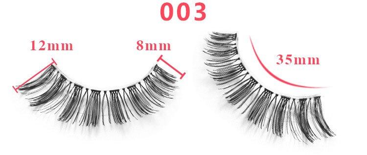 cílios kit mistura grossa natural falso olho