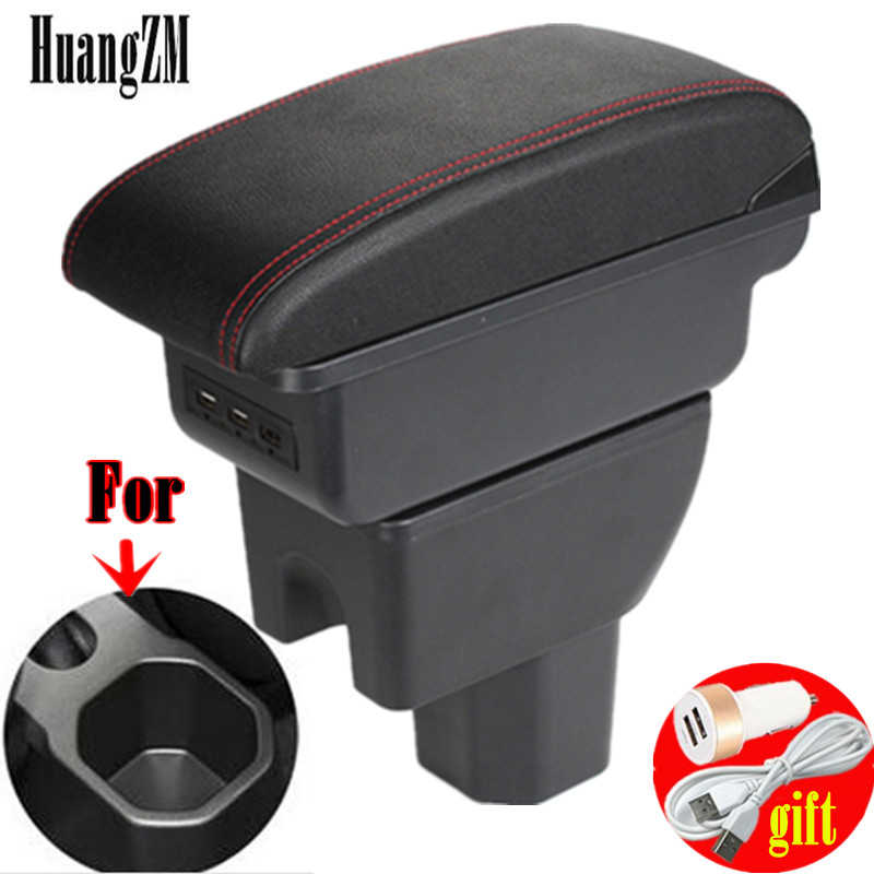 Для Suzuki Ignis подлокотник для Suzuki Ignis модифицированные детали интерьера ящик для хранения USB светодиодный Простая установка автомобильный под...
