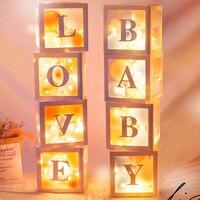 Прозрачная коробка для детских шаров, 4 шт., подарок на день рождения для ребенка, подарок на день рождения, коробка с надписью «Love Surprise» для д...