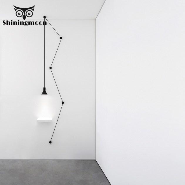 Modern Minimalism Black Metal LED Pendant Lights Americ Industrial  Dining Room LOFT Pendant Lamp Living Room Hanglamp Luminaria