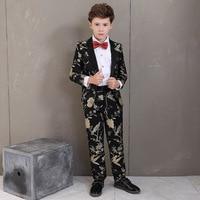 2019 Little Boys Two Pieces Formal Wear Beach Groomsmen Wedding Tuxedos Formal Prom Suit