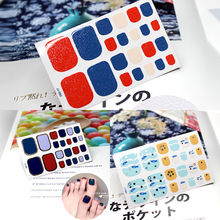 New Fashion Women Toe Nail Art Sticker Colorful Adhesive Nail Decal Nail Wraps For Toenails Manicure Foil Nail Stickers