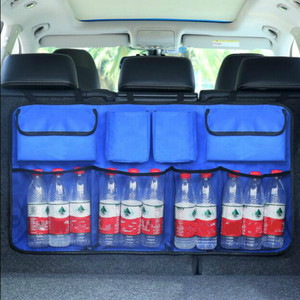 Image 3 - Car Rear Seat Back Storage Bag Multi Hanging Nets Pocket Trunk Bag Organizer Auto Stowing Tidying Interior Accessories Supplies