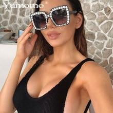 Luxury diamond sunglasses ladies brand design square diamond sunglasses