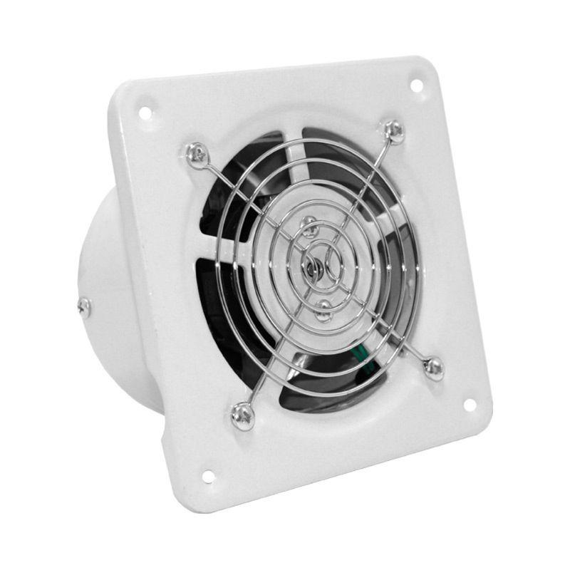 4 Inch Extractor Exhaust Fan Quiet Air Ventilation Fans 25W Wall Window Ventilator For Toilet Bathroom Kitchen Room Use