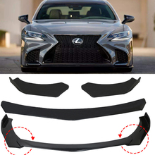 3pcs Black Universal Car Front Bumper Splitter Spoiler Lip Body Diffuser Protector For Mazda For Benz For BMW For Lexus For Audi цена