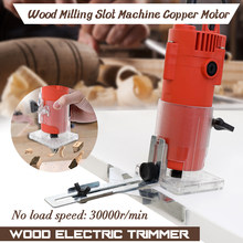 Electric Hand Trimmer Router Wood toolCarving Machine Flip Board Woodworking Milling Engraving Slotting Trimming Aluminum Alloy(China)